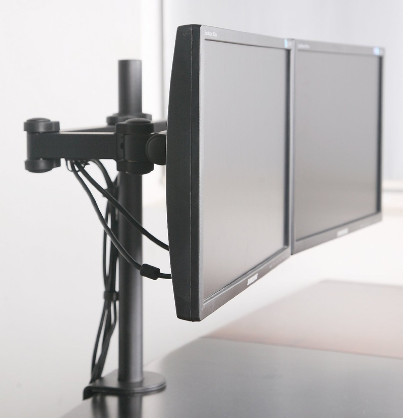 Digi Parts Dual Monitors Desk Mount Stand Fully