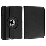 360° Rotating Stand, Black PU Leather Case for iPad2,ipad3,ipad4