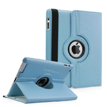 360° Rotating Stand, Blue PU Leather Case for iPad2,ipad3,ipad