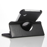 360° Rotating Black PU Leather Case for Samsung Tablet 2 7""