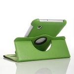 360° Rotating Stand, Green PU Leather Case for Samsung Tablet 2
