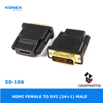 HDMI female to DVI Male 24+1
