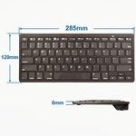 Bluetooth Wireless Keyboard keypad 3-in-1 Android, IOS, Win Blac