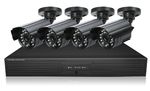 H.264 4 Channels DVR with 4 CMOS cameras, 600 Lines