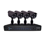H.264 4 Channels DVR with 4 SONY CCD cameras, 420 Lines