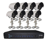 H.264 8 CH. DVR with 8 SONY CCD cameras, Night Vision