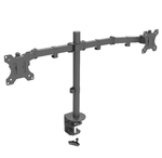 Dual Desk Mount Stand Fully Adjustable Screen upto 27""