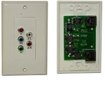Balun, Component Video with stereo audio wall plate per pair