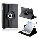 360° Rotating Stand, Black PU Leather Case for iPad Mini