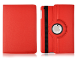 360° Rotating Stand, Red PU Leather Case for iPad Mini