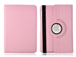 360° Rotating Stand, Pink PU Leather Case for iPad Mini