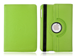 360° Rotating Stand, Green PU Leather Case for iPad Mini