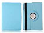 360° Rotating Stand, Blue PU Leather Case for iPad Mini