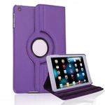 360° Rotating Stand, Purple PU Leather Case for iPad Mini