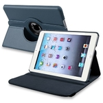 360° Rotating Stand, Navy Blue PU Leather Case for iPad Mini